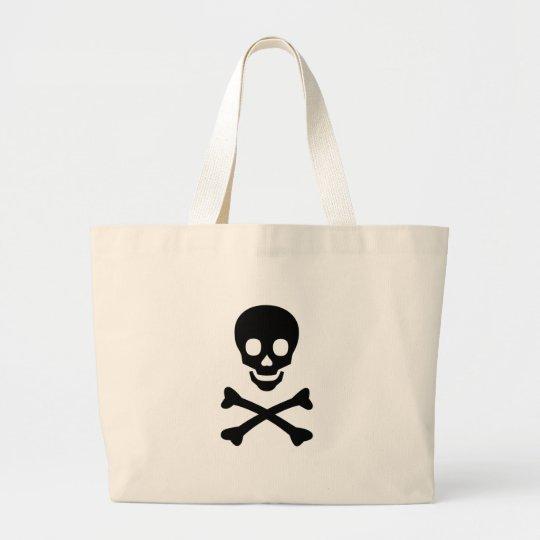 Skull and Crossbones Item Large Tote Bag