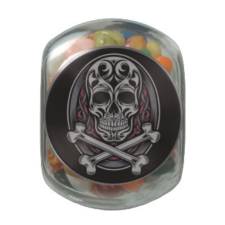 Skull And Crossbones Jelly Belly Candy Jars