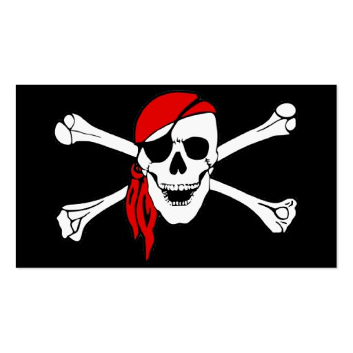 Skull And Crossbones Jolly Roger Double-Sided Standard Business Cards (Pack Of 100)