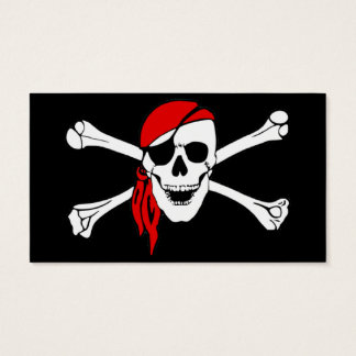Skull And Crossbones Jolly Roger Business Card