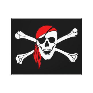 Skull And Crossbones Jolly Roger Canvas Print