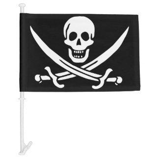 Skull and Crossbones Jolly Roger Car Flag