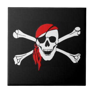 Skull And Crossbones Jolly Roger Ceramic Tiles