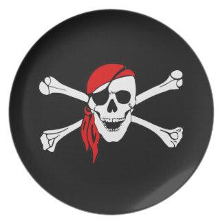 Skull And Crossbones Jolly Roger Dinner Plate