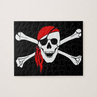Skull And Crossbones Jolly Roger Jigsaw Puzzle