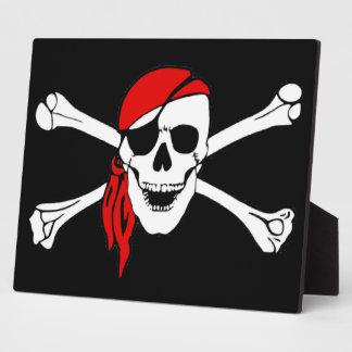 Skull And Crossbones Jolly Roger Plaque