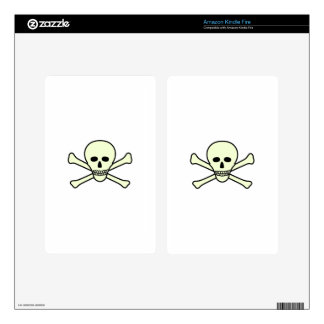 Skull and Crossbones Kindle Fire Decal