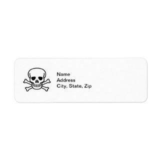 Skull and Crossbones Label