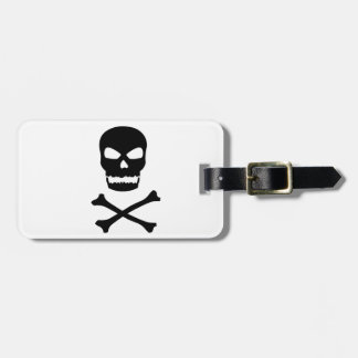 Skull and Crossbones Tags For Bags