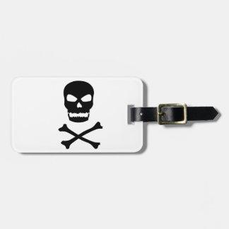 Skull and Crossbones Luggage Tag