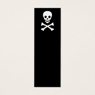 Skull and Crossbones Mini Business Card