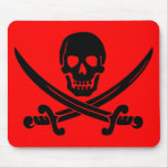 skull and crossbones. mouse mat