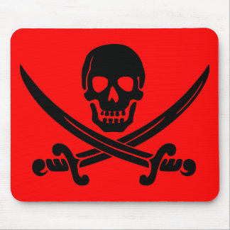 skull and crossbones. mouse pad