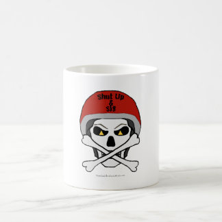 Skull and crossbones mug