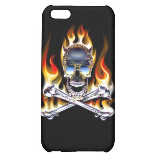 Skull and Crossbones on Fire iPhone 4 Speck Case iPhone 5C Cover