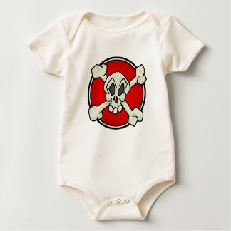 Skull and Crossbones One Piece for Babies Baby Bodysuit
