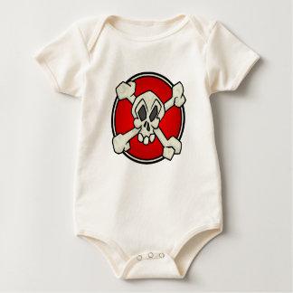 Skull and Crossbones One Piece for Babies Baby Bodysuit