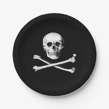 Halloween Themed Skull and crossbones paper plates