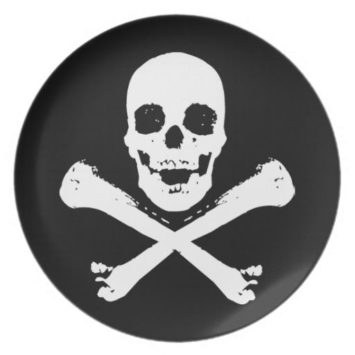 Skull and Crossbones Party Plates