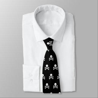 Skull and Crossbones Pattern Neck Tie