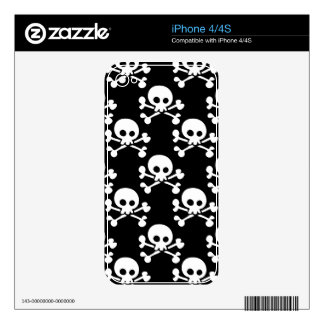Skull And Crossbones Pattern Skins For The iPhone 4