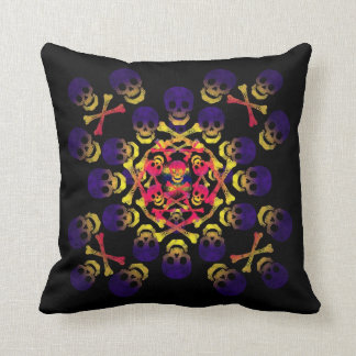 skull and crossbones throw pillows