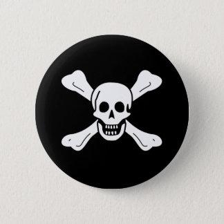 Skull and Crossbones Pinback Button