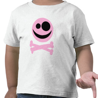 Skull and Crossbones. Pink and Black. Shirt
