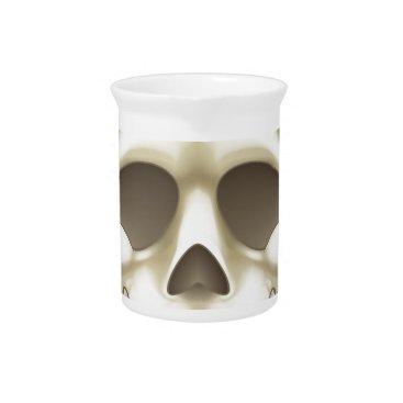 Skull and Crossbones Pirate Cartoon Drink Pitcher