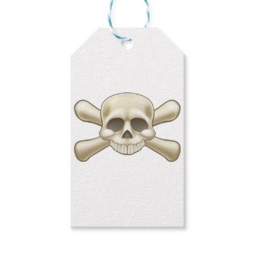 Skull and Crossbones Pirate Cartoon Gift Tags