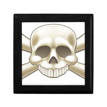 Skull and Crossbones Pirate Cartoon Keepsake Box