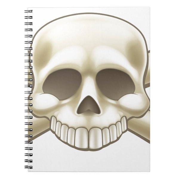 Skull and Crossbones Pirate Cartoon Notebook