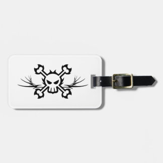 Skull and Crossbones Pirate Tattoo Luggage Tag