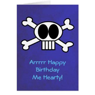 Skull and Crossbones Pirate Theme Birthday Card