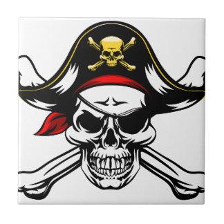Skull and Crossbones Pirate Tile