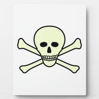 Skull and Crossbones Display Plaques