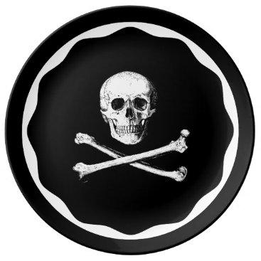 Halloween Themed Skull and crossbones plate