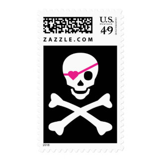 Skull and Crossbones Postage Stamps
