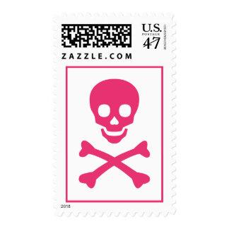Skull and Crossbones Postage Stamp