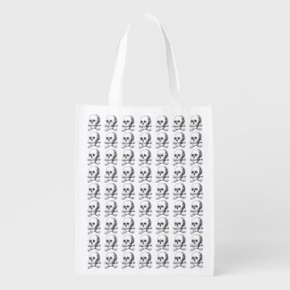 Skull and Crossbones Reusable Grocery Bag
