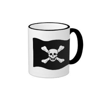 Skull and Crossbones Ringer Coffee Mug