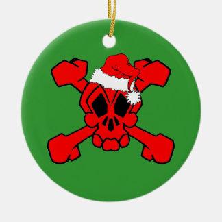 Skull and crossbones Santa Ornaments
