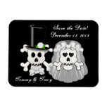 Skull And Crossbones Save The Date Magnet at Zazzle