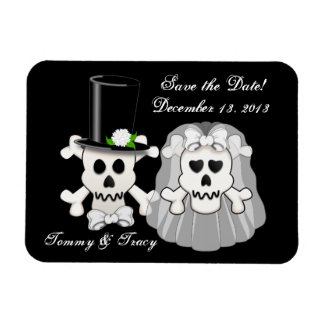 Skull and Crossbones Save the Date magnet