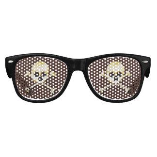 Skull And Crossbones Scary Halloween Dress Up Kids Sunglasses