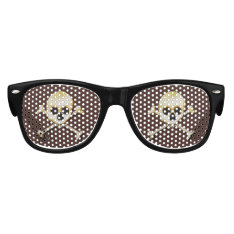 Skull And Crossbones Scary Halloween Dress Up Kids Sunglasses at Zazzle