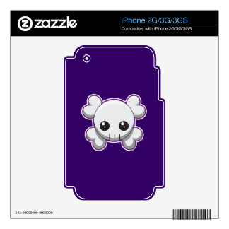 Skull and Crossbones Decals For iPhone 3