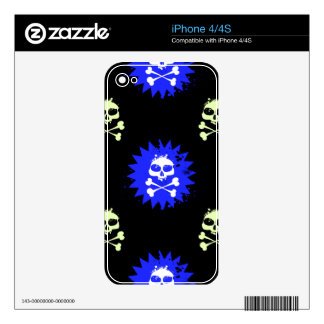 Skull and Crossbones Decals For iPhone 4S