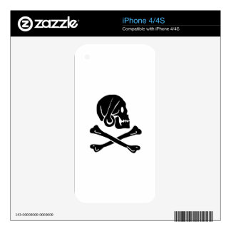 Skull And Crossbones Skin For iPhone 4S