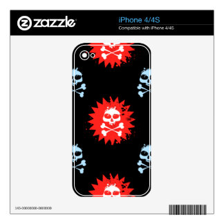 Skull and Crossbones Skin For iPhone 4